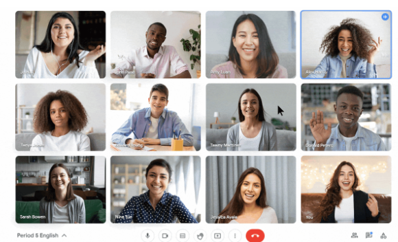 نرم افزار وب کنفرانس گوگل میت Google Meet توسعه ارتباطات گلیک